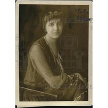 1919 Press Photo Leona Curtis daughter of Kansas senator