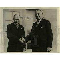 1931 Press Photo Mr. Harry J. Haas and Rome G.S. Tephenson, Bankers Association