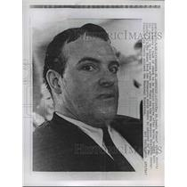 1968 Press Photo St. Louis Blues' coach Scotty Bownman wears a look of shock