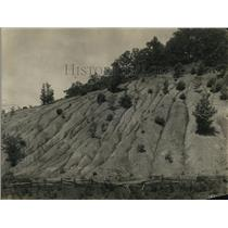 1924 Press Photo Eroded slope in Western north California