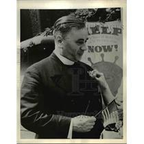 1942 Press Photo Reverend Kurt E.B. Molzahn, Indicted as Spy  - nee22813