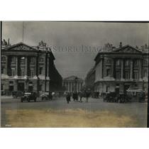 1927 Press Photo Rue Royale for American Legion parade in Paris