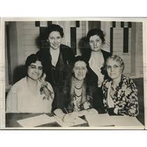 1932 Press Photo Mrs. Eugene Lawson, Mrs. Poole, Dr. Peirce, Mrs. Hammett