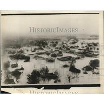1929 Press Photo Flood Scene Elba Alabama