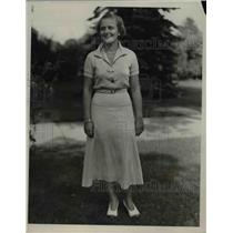 1935 Press Photo Elizabeth Vandenberg, Daughter of Michigan Senator A.H.