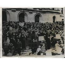1933 Press Photo 1500 Unemployed Converge on Minnesota Legislature  - nee19561