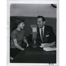 Press Photo WERE radio Walt Henrich & a girl