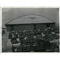 1942 Press Photo Cleveland Ohio Flight Research Hnagar at airport