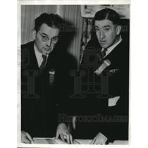 1936 Press Photo Frank Rospaw Clark F. Waite California Newspaper Publish Assoc