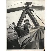 1931 Press Photo Dr.Paul Schwartz,German Consul,and Pilot George Pynchon