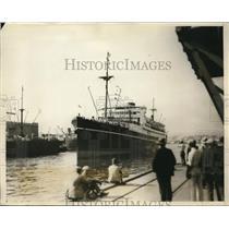 1929 Press Photo Japonese Liner Arrives In Los Angeles - nee17327