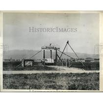 1932 Press Photo of balloon platform for stratosphere test.