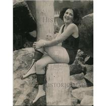 1922 Press Photo Peggy Scholl of San Diego Calif