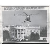 1959 Press Photo Helicopter of President Eisenhower Arrives at White House