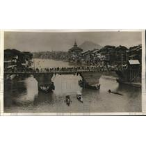 1927 Press Photo River Jhelum Srinagar city