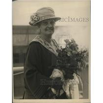 1923 Press Photo Chicago  Mrs Raymond Robin for International Congress of Women