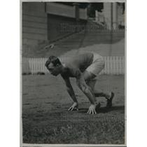 1920 Press Photo William Hunt, champion of Australia 100 and 220 yard dash