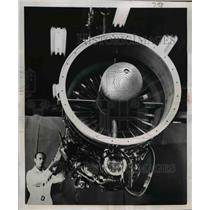 1951 Press Photo Turbo Jet Engine of General Electric Company