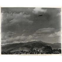 1945 Press Photo Republic P-47 Thunderbolt Bomber Flies over North Burma.