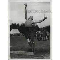 1922 Press Photo J. Graham, winner of Heavy & Light Put, Highland Games, Aboyne