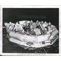 1953 Press Photo Goodyear Survival Rafts - nee28171