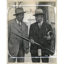 1929 Press Photo Col HJ Burke & JW Reiland Aurora Det Chief