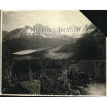 1925 Press Photo Chrome Lake area of Jasper natl Park in Canada