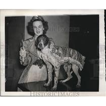 1940 Press Photo Actress Gene Roger with her dog, Josephine