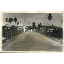 1931 Press Photo Bridge in Honduras, the center of attack in Honduran revolt