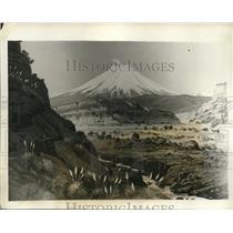 1931 Press Photo Cotopaxi volcano near an earthquake in Ecuador
