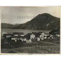 1930 Press Photo View of Dutch Harbor, Aloutian Island, Alaska