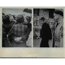 1963 Press Photo Bernanrd Rifkin and Thomas Martin reunite with Wives in Laz Paz