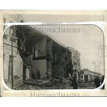 1928 Press Photo Chile earthquake damage to buildings
