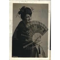1919 Press Photo Senorita Olga Escaurreof Chile