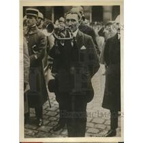 1926 Press Photo French Bugler Corporal Sellier Sounded Cease Firing