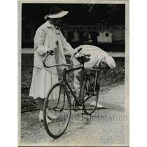 1938 Press Photo Couple is Honeymooning By Bike Riding 2500 Miles is US
