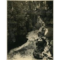 1925 Photo swift water running through Rogue River Gorge Medford Oregon