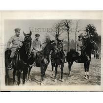 1927 Press Photo Lt. Cmdr. Yusa, Maj. Kido, Capt. Yeshida, Maj. Okada of Japan