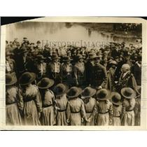 1919 Photo Prince Albert inspects Guard Honour Girl Guides school