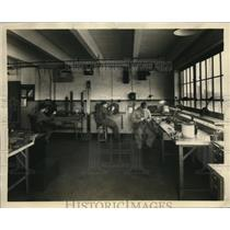 1931 Press Photo Natl Air Transport instument lab for repairs