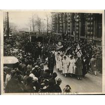 1926 Press Photo Women's Guild of Empire anti strike demonstration, London