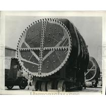 1931 Press Photo Largest Electrical Transformers In England