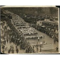 1917 Press Photo Great Wake Up America Parade, High Schools Girls marching band