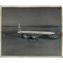 1957 Press Photo A Douglas-built Super-7 Clippers by Pan American