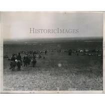 1936 Press Photo Mongolian tribesmen at an encampment near Jap-Russo border