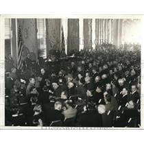 1935 Press Photo Luncheon Meeting of Associated Press at Waldorf-Astoria Hotel