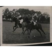 1921 Press Photo Polo players in a chukker - nes27644