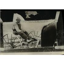 1925 Press Photo Man Conrad Roethler Drives Horse-Drawn Wagon  - nee28829