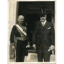 1927 Press Photo Netherlands Minister J.H.Van Roijen(L) & Asst. Sec.State Wright