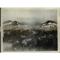 1926 Press Photo Three Sisters, Oregon Mountain Peaks
